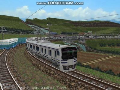 越河レイアウト電車シリーズ80-E217系二階建て6