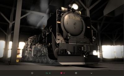 MMD鉄道でC62をつくるEjimaさん11
