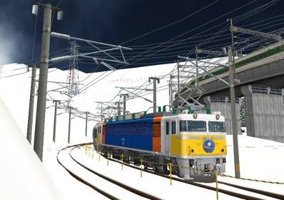 仮想日本海縦幹線雪景色カーブ5カシオペア