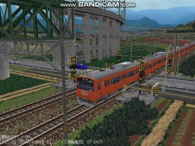 越河レイアウト電車シリーズ69-201系中央線オレンジ中特8