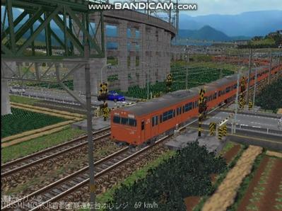越河レイアウト103シリーズ98-103系JR高運転台オレンジ色関西圏7