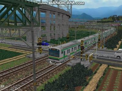 越河レイアウト電車シリーズ75-E231系近郊電車6