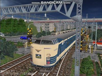 越河レイアウト夜汽車シリーズ3-583系はくつる1