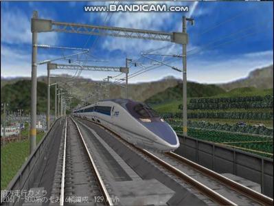 越河レイアウト東北新幹線500系のぞみ6