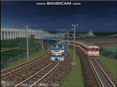 越河レイアウト夜汽車シリーズ9-EF66-39あさかぜ2