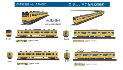 越河レイアウト電車シリーズ71-201系総武線カナリアA