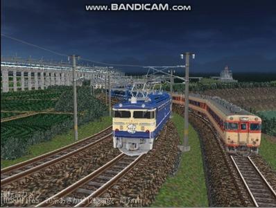 越河レイアウト夜汽車シリーズ13-EF65-500あさかぜ2