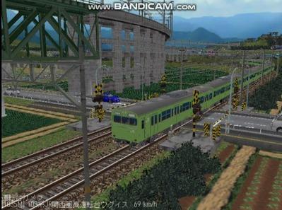 越河レイアウト103シリーズ97-103系JR高運転台ウグイス色関西圏6