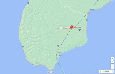 青函トンネル出口付近地図4
