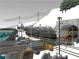 雪景色と貨物交換駅レイアウト踏切16.jpg