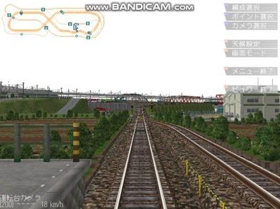 5編成並走見張分線A駅全面展望1