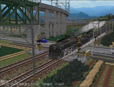 越河レイアウト特急シリーズ番外C62重連セキ3000-8