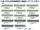 200系+400系新幹線14輌