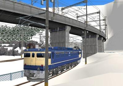 仮想日本海縦幹線雪景色トンネル在来線4