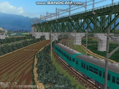 越河レイアウトお気に入り画像5逆トラスト鉄橋