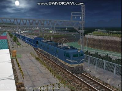 越河レイアウト夜汽車シリーズ15-EF58-138さくら-5