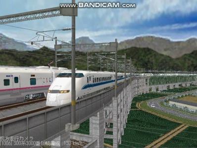 越河レイアウト東北新幹線300系のぞみ5