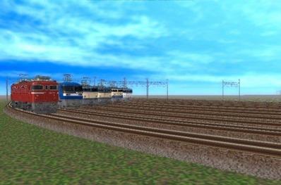 VRM5貨物牽引機関車動画から1