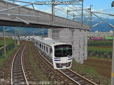 越河レイアウト電車シリーズ80-E217系二階建て5