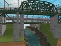 3300X700�レイアウト河川を作る7