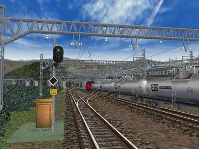 白石駅構内上り出発信号機2