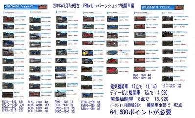 VRMonLineパーツリスト機関車編1