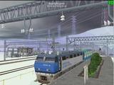 北の貨物駅通過中EF200-3