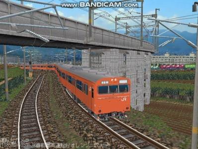 越河レイアウト103シリーズ98-103系JR高運転台オレンジ色関西圏5