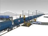 雪景色と貨物交換駅レイアウト踏切19.jpg