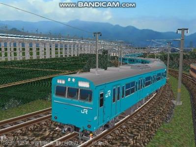 越河レイアウト103シリーズ99-103系JR高運転台スカイブルー色首都圏2