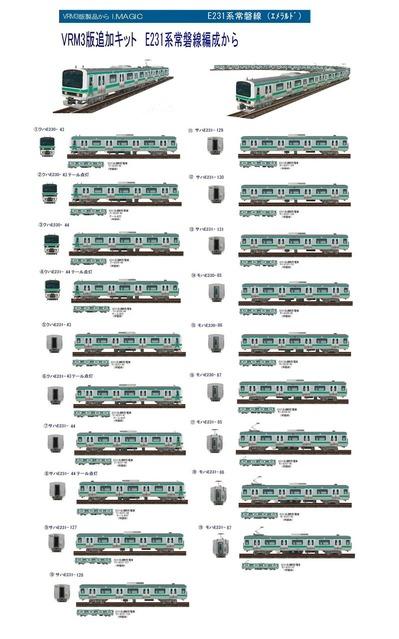 越河レイアウト電車シリーズ72-E231系常磐線A