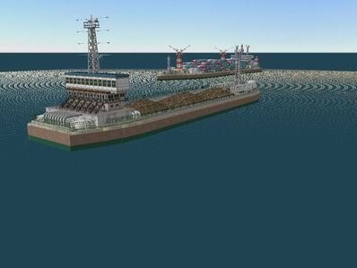 仮想日本海縦幹線雪景色海岸線完成7船