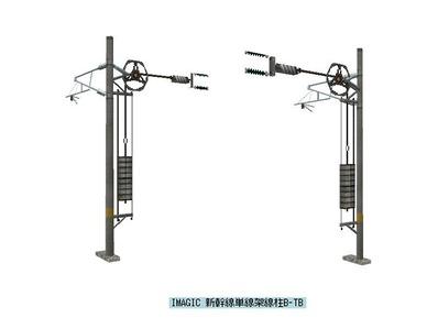 VRM3新幹線架線柱テンション付き1