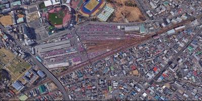 貨物線、宮城野駅上空写真1SS
