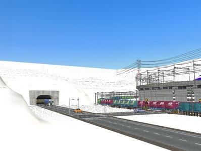 仮想日本海縦幹線雪景色国道制作4