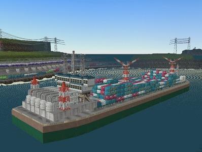 仮想日本海縦幹線雪景色海岸線完成11船