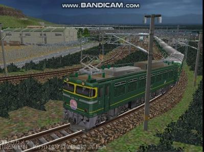 越河レイアウト夜汽車シリーズ4-EF81113トワイライト5