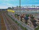 3欲張り新幹線レイアウト踏切道部分82
