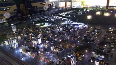 ジオラマ京都HOゲージ夜景その7