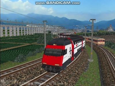 越河レイアウト特急シリーズ56-スイス国鉄IC-2000-2