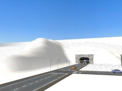 仮想日本海縦幹線雪景色国道制作5
