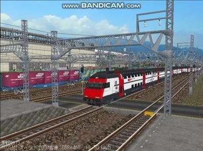 越河レイアウト特急シリーズ56-スイス国鉄IC-2000-10
