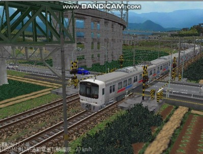 越河レイアウト電車シリーズ67-811系JR九州電車7
