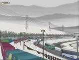 奥中山大カーブ冬景色DF200レッドベア2