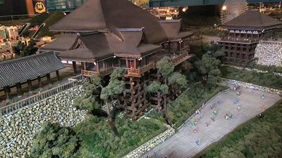 ジオラマ京都HOゲージ右側清水寺2