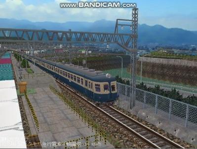 越河レイアウト電車シリーズ58-52系流電3