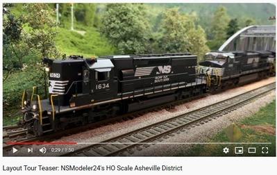 アメリカンディーゼル機関車HOゲージ動画1