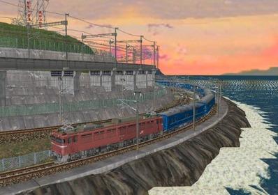 仮想日本海縦幹線日本海夕暮れ11日本海3
