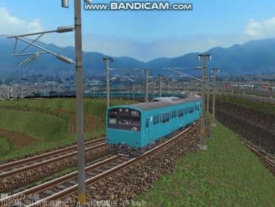 越河レイアウト電車シリーズ70-201系京浜東北スカイブルー3