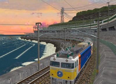 仮想日本海縦幹線日本海夕暮れ2カシオペア2